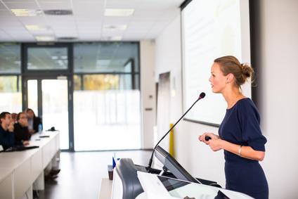 SPEAKING IN PUBLIC –Present professionally